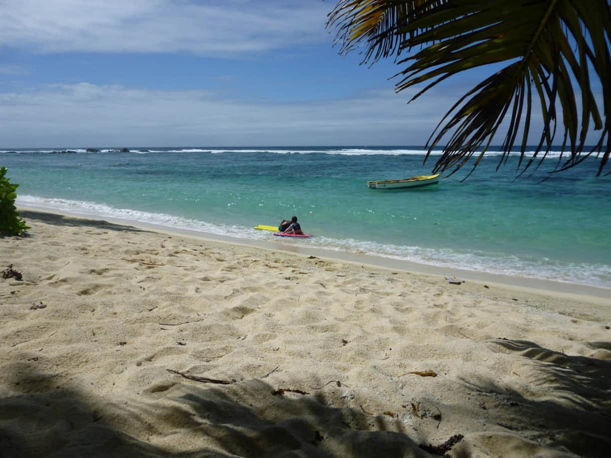 Anse Forbans beach is almost 400 meters long and is quasi-private