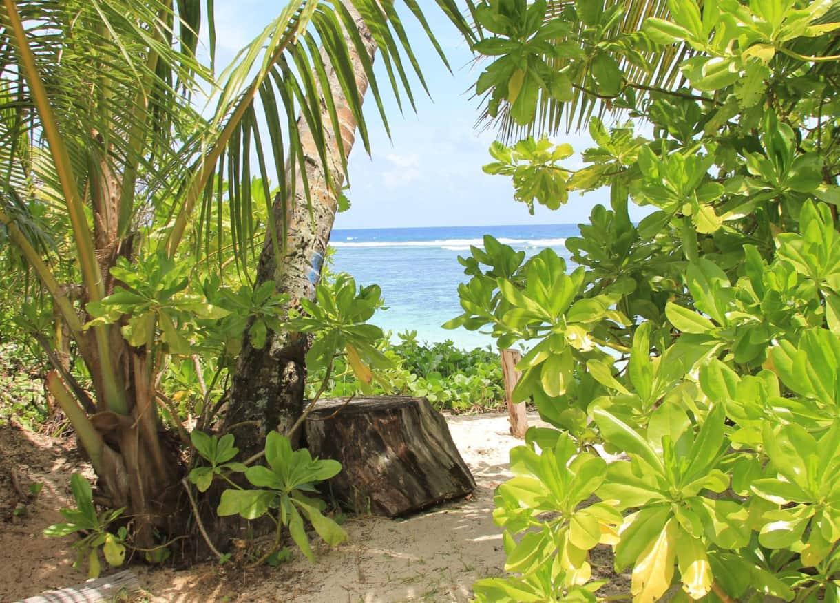 Garden Entrance to the beach