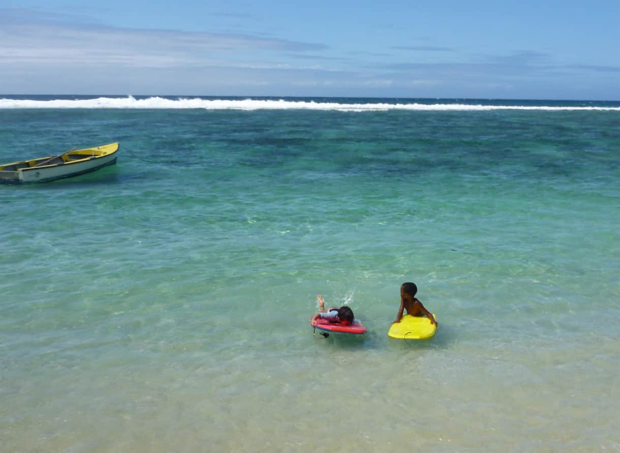 Children will have endless of hours of fun at Anse Forbans