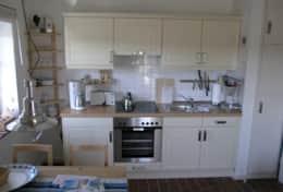 Küche in Vordeck Backbord