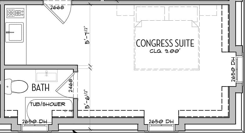 Congress Suite layout