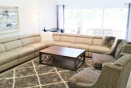 Spacious Living Room Area-Sofa has 2 Recliners!