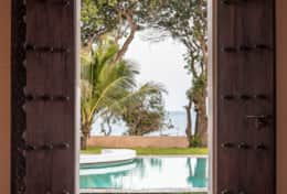 Sitting Room Door leading onto the pool