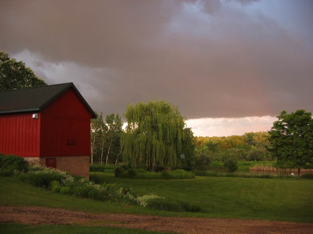 Storm in Reedsburg in Pine Grove Park Bed and Breakfast Guest House Romantic Getaway