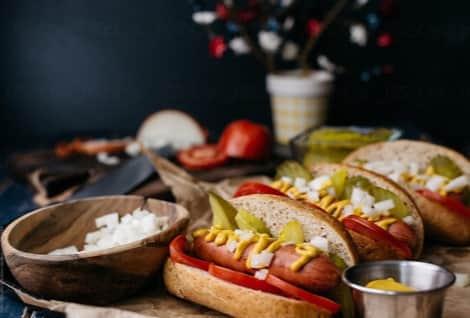 Tasty Chicago Style Hot Dog