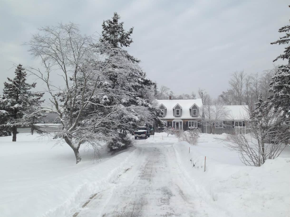 Fox Fields Farm In The Winter