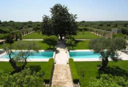 Casino Pisanelli - scenic views of the garden and the pool - Ruffano - Salento