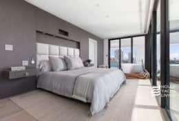 9' ceilings with en suite bath and private balcony