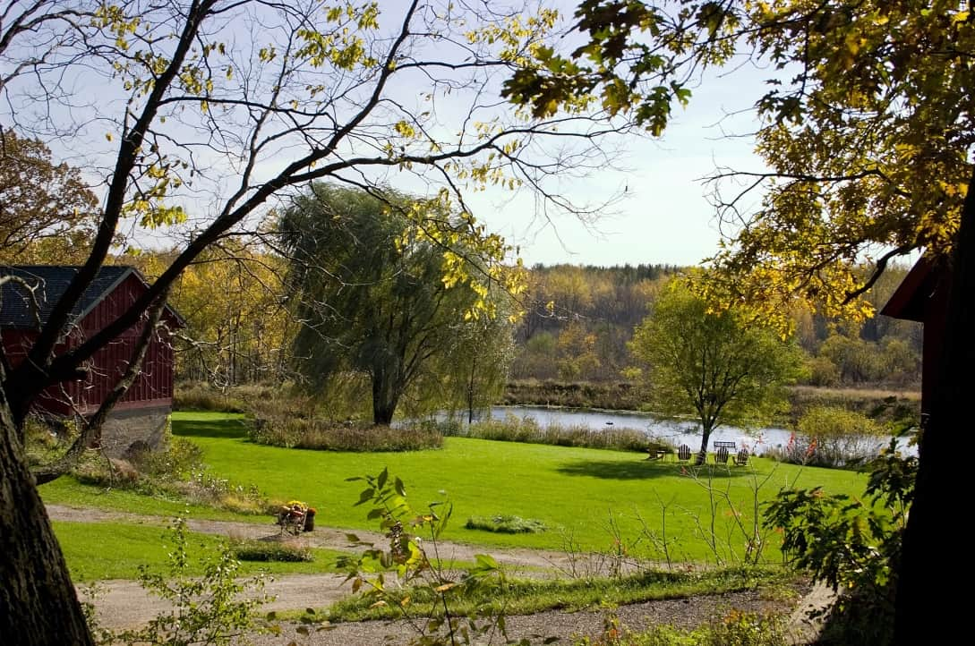 Beautiful view at Pine Grove Park Bed and Breakfast Guest House Romantic Getaway in Reedsburg