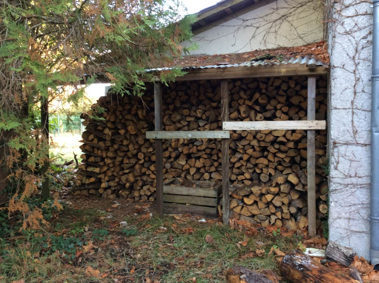 Plenty of wood for the log fire.