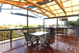 Deck and outdoor setting