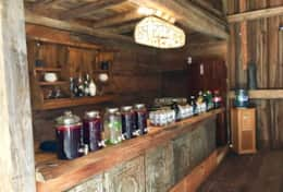 Reclaimed barn bar
