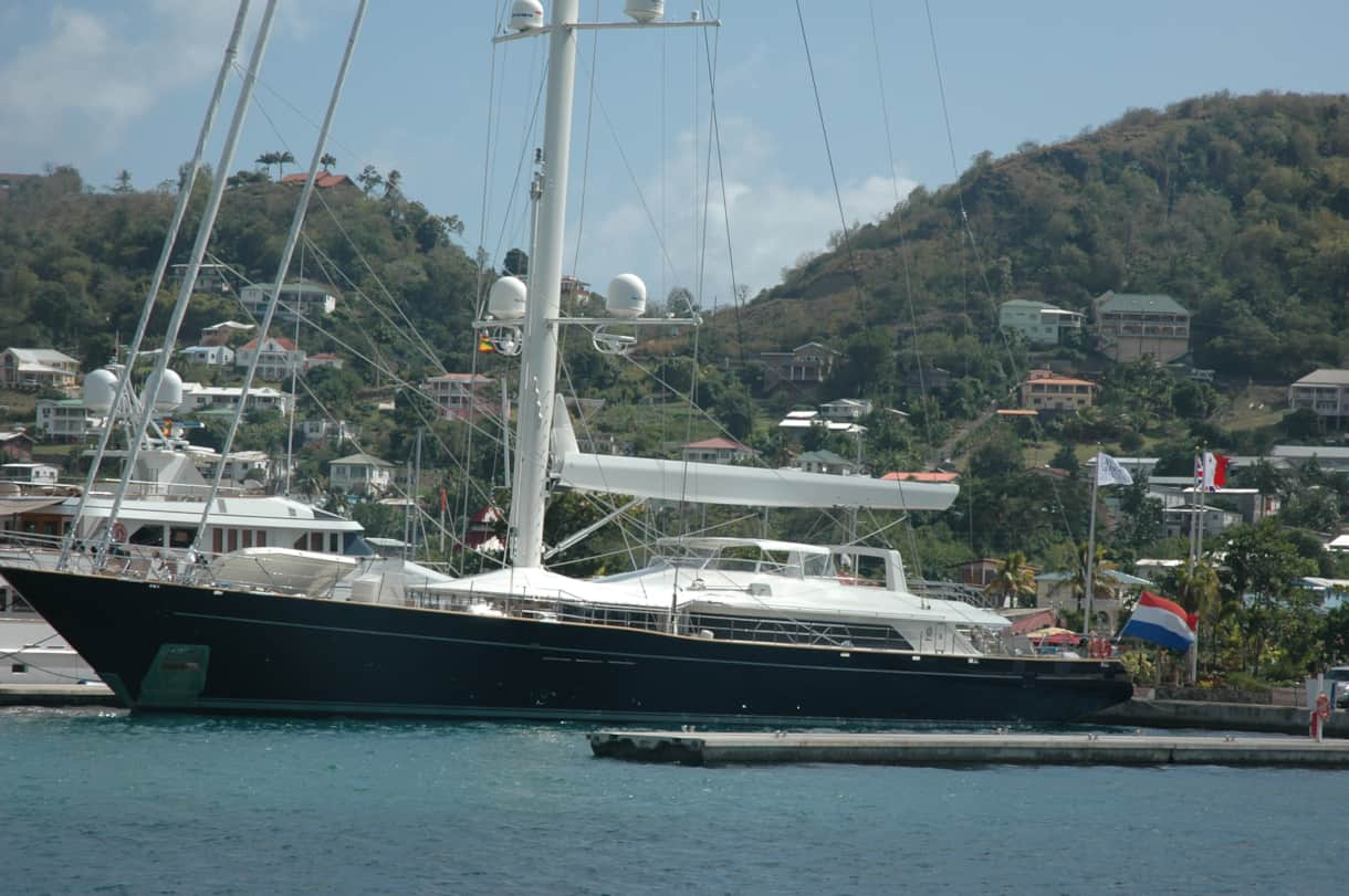 A lovely yacht in Port Louis Marina
