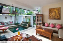 Villa Sensel - Swimming Pool - Living Room -  1A