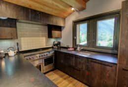 Professionally equipped kitchen offers fantastic views over the Valley.