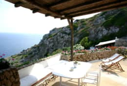 Il Faro - terrace overlooking the Adriatic coast - Leuca - Salento