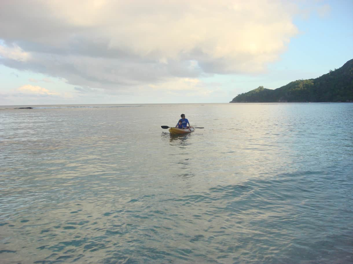 Anse Forbans is perfect for kayaking