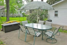 Outdoor Patio Seating, Storage and Kayak