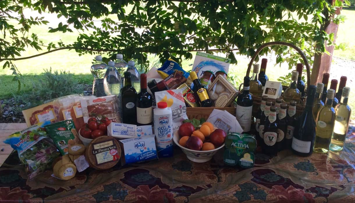 Club  Montecchio's huge Welcome Hamper.