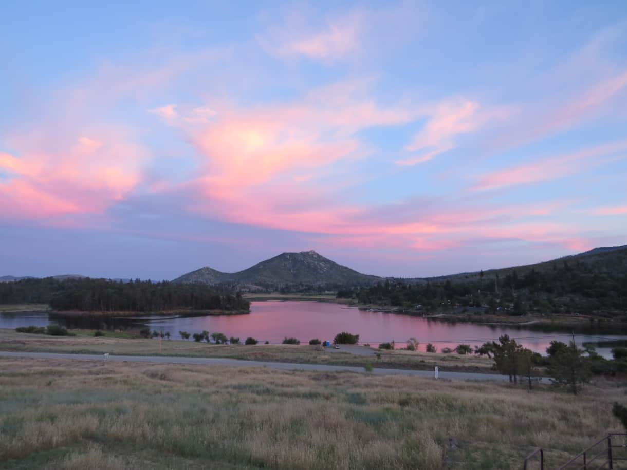 Sunset over Lake Cuyamaca