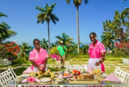 Enjoy any meal outside made by the wonderful Villa Staff