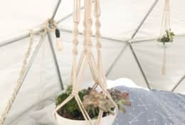 Asheville Glamping Dome 1 planter hangers