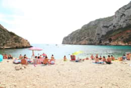 Granadella beach one of the top beaches in Spain