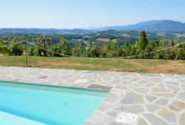 Villa Lavanda pool with a view