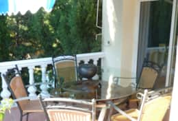 Table & Chairs on extended terrace outside dining area & lounge