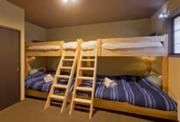 Queen bed and Bunks