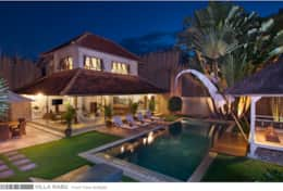 Villa Rabu - Front vie by Night