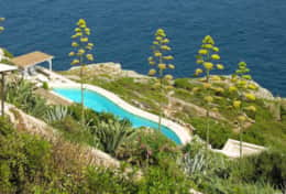 Il Faro - view of the pool from the terrace -  Leuca - Salento