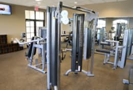 Many machines to use in the fitness center