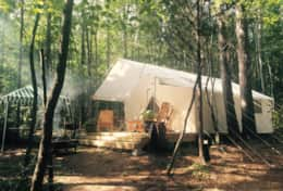 Exterior of Luxury Tent