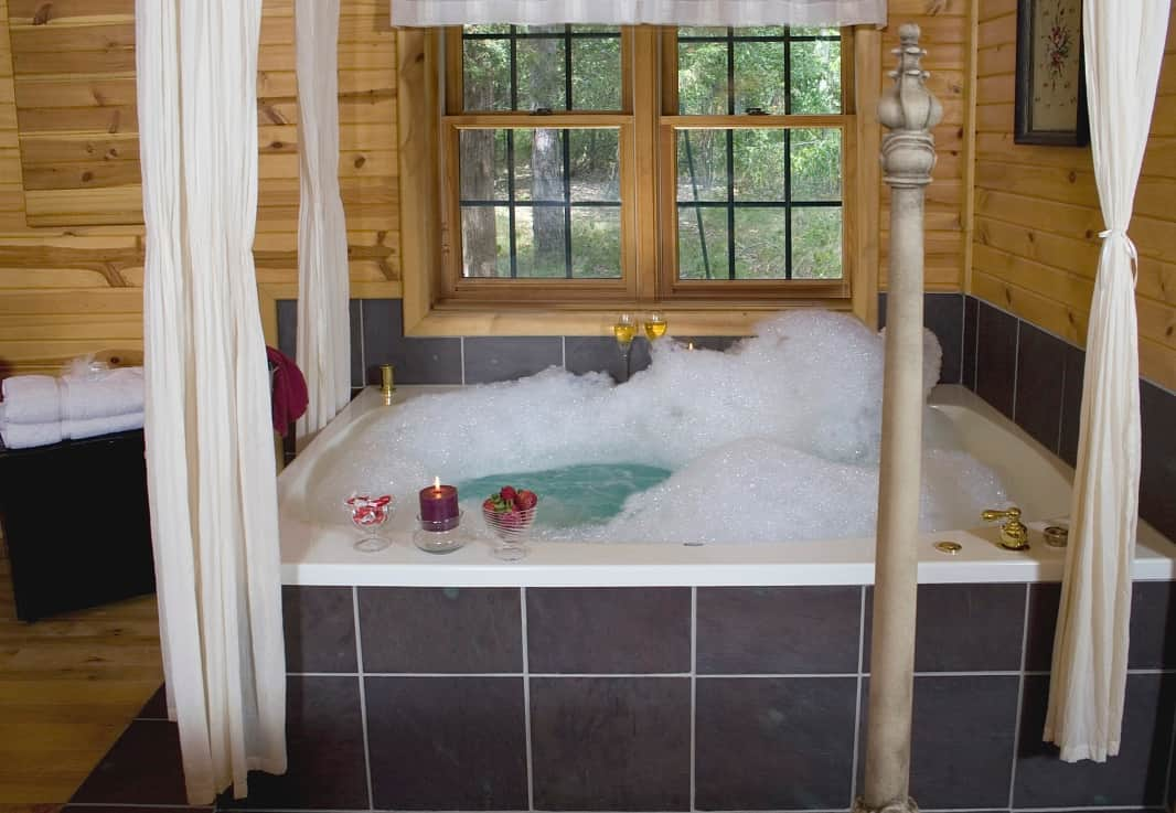 Large Jacuzzi tub at Pine Grove Park Bed and Breakfast Guest House Romantic Getaway in Reedsburg