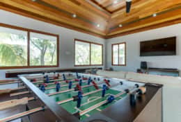 Foosball table & other games available in media room