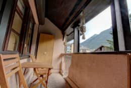 Good size balcony from where you can enjoy wonderful views of Brevent and Aiguilles Rouges