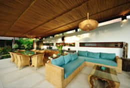 Mana Boutique common chill area overlooking the pool