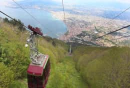 Cable Car from Monte Faito (approx 20 minutes drive from Casa Enzuccio)