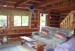 Bayside Log Home Living Room
