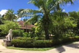 Entrance gardens to Baan Rim Bueng