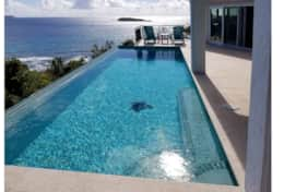 Pool deck available when owners are not on island