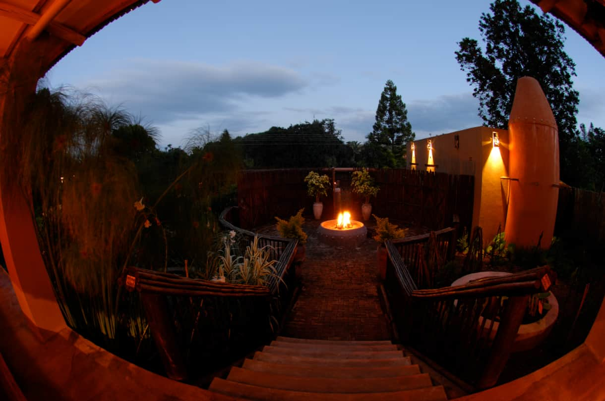 View by night at Dar Amane in Graskop